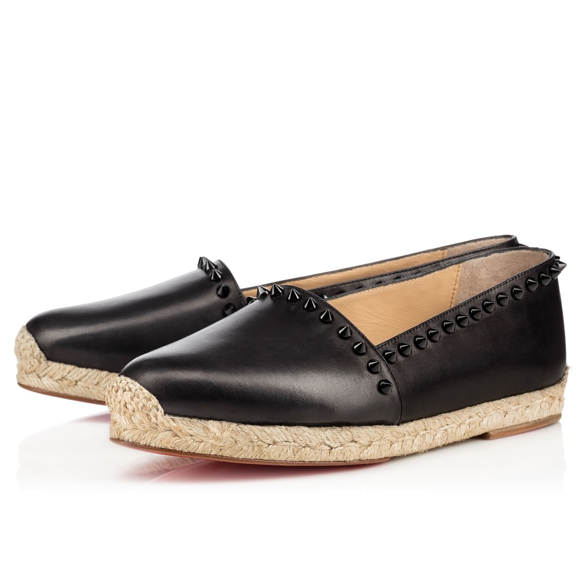 Ares Flat Black Leather - Women Shoes - Christian Louboutin