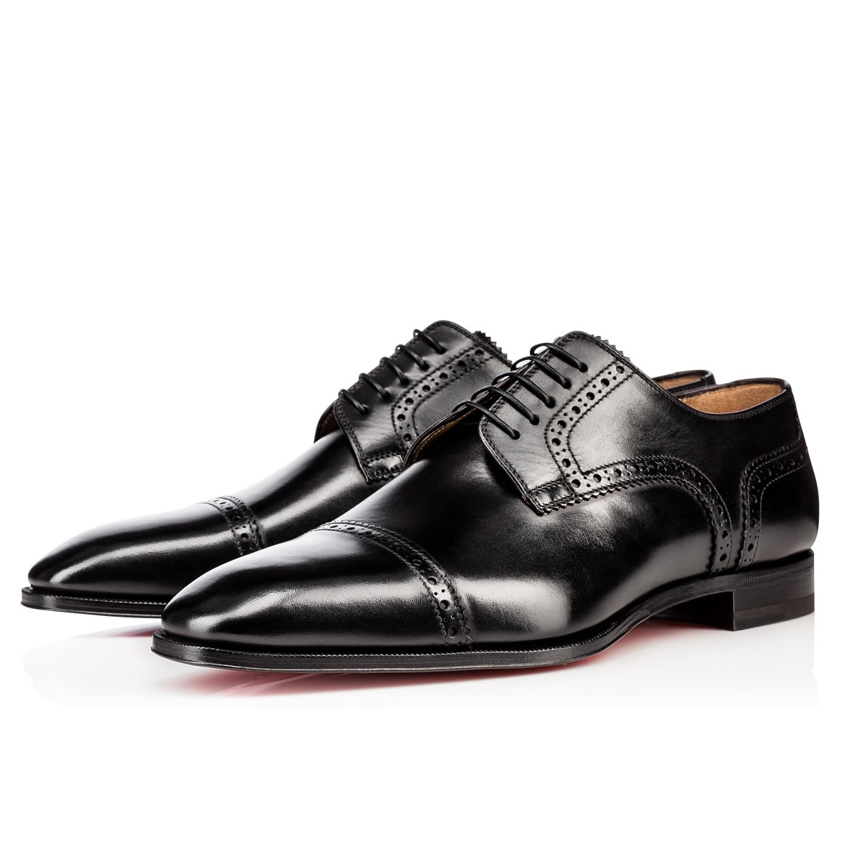 Cousin Charles Flat Black Leather - Men Shoes - Christian Louboutin