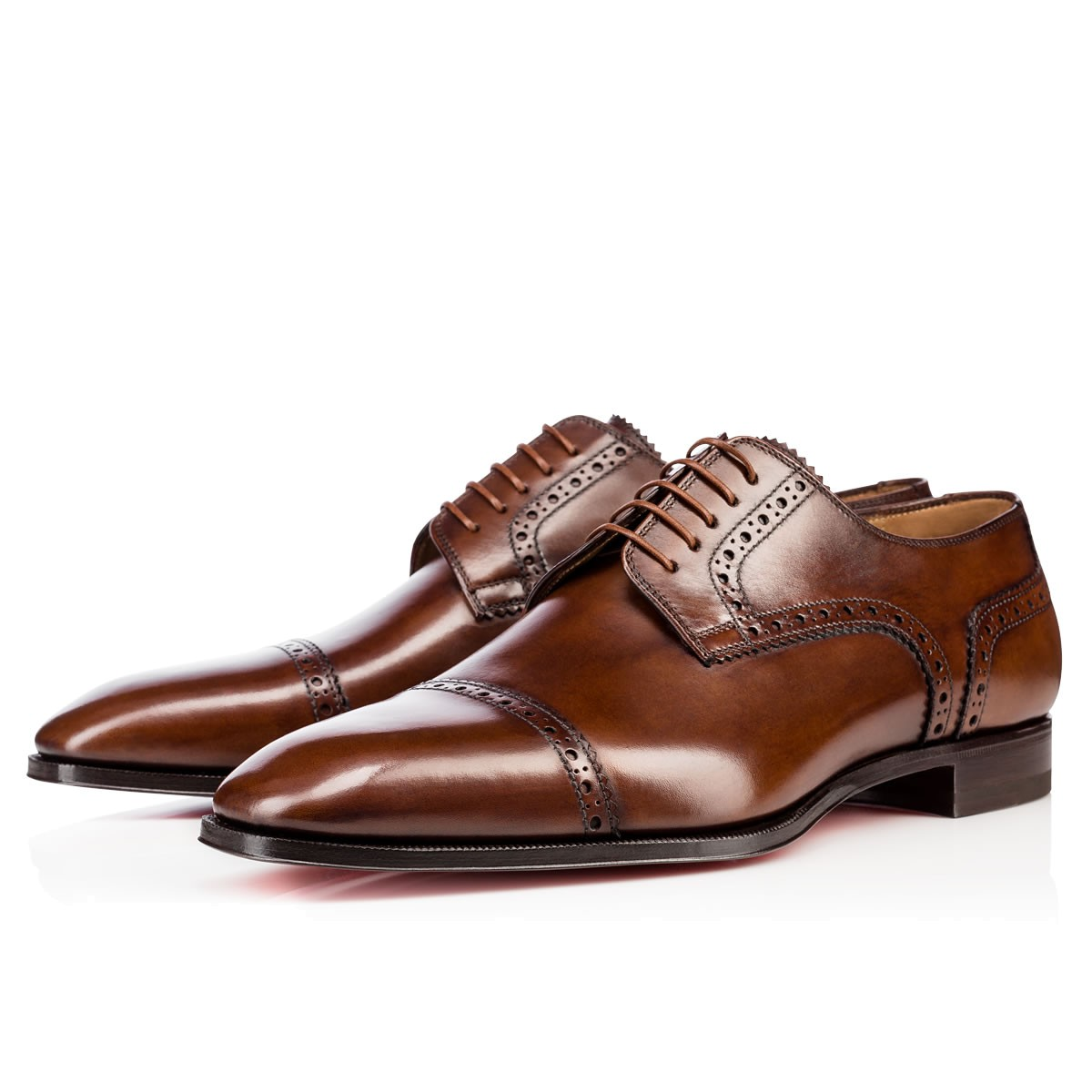 Cousin Charles Flat Havane Leather - Men Shoes - Christian Louboutin