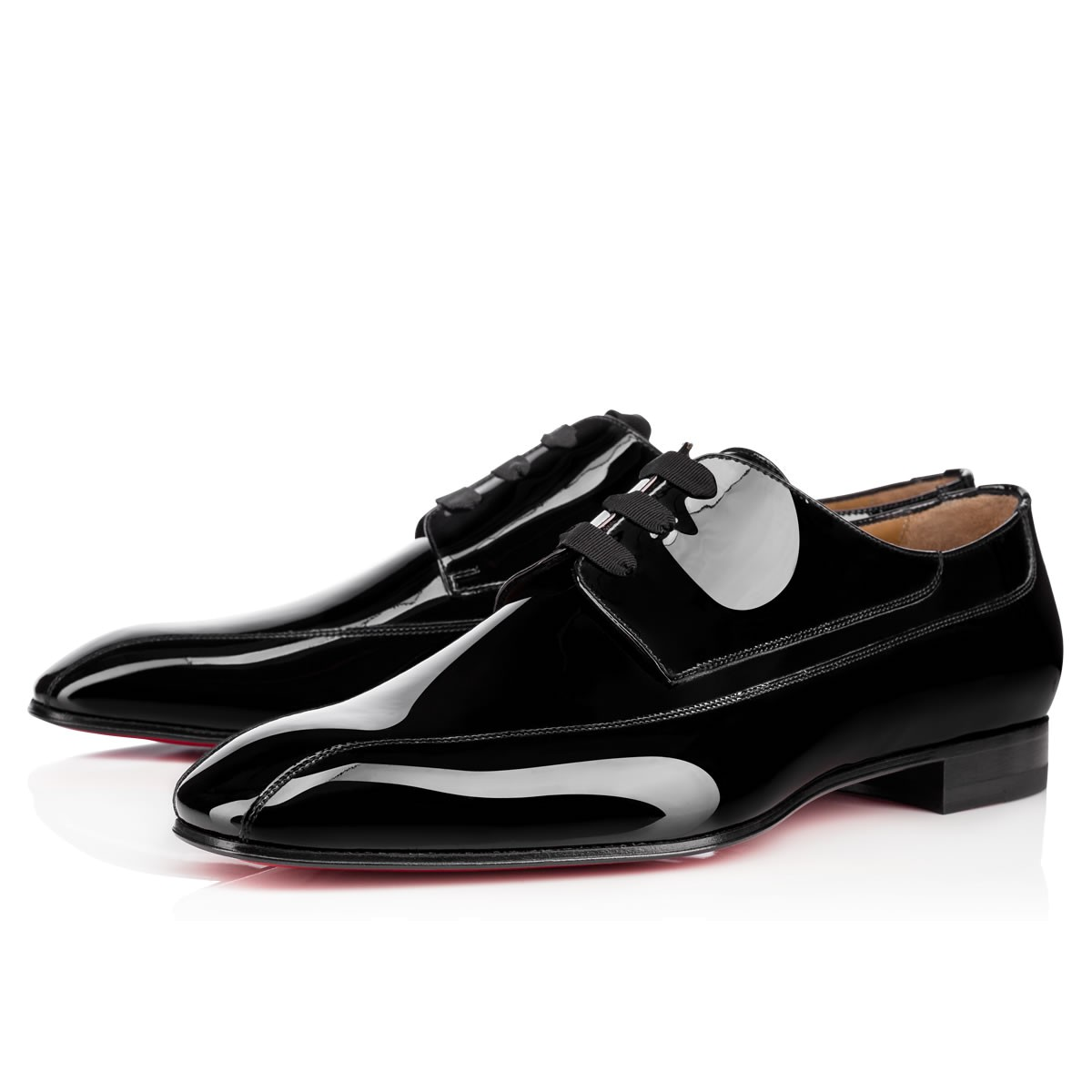 Orleaness Flat Black Patent Leather - Men Shoes - Christian Louboutin