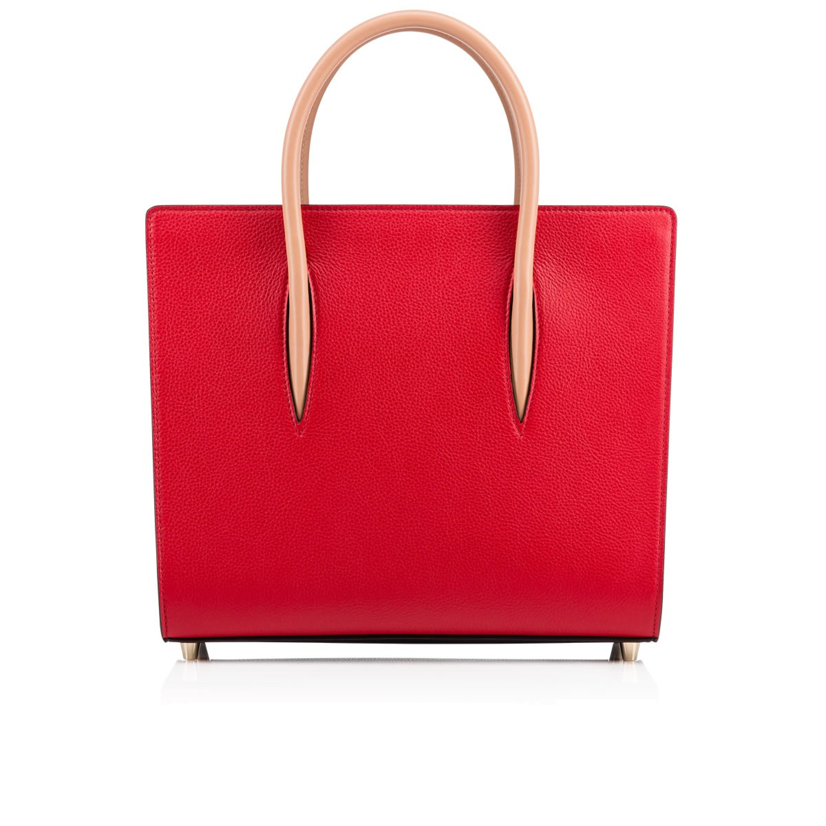 Paloma Medium Tote Bag Carmin Leather - Handbags - Christian Louboutin