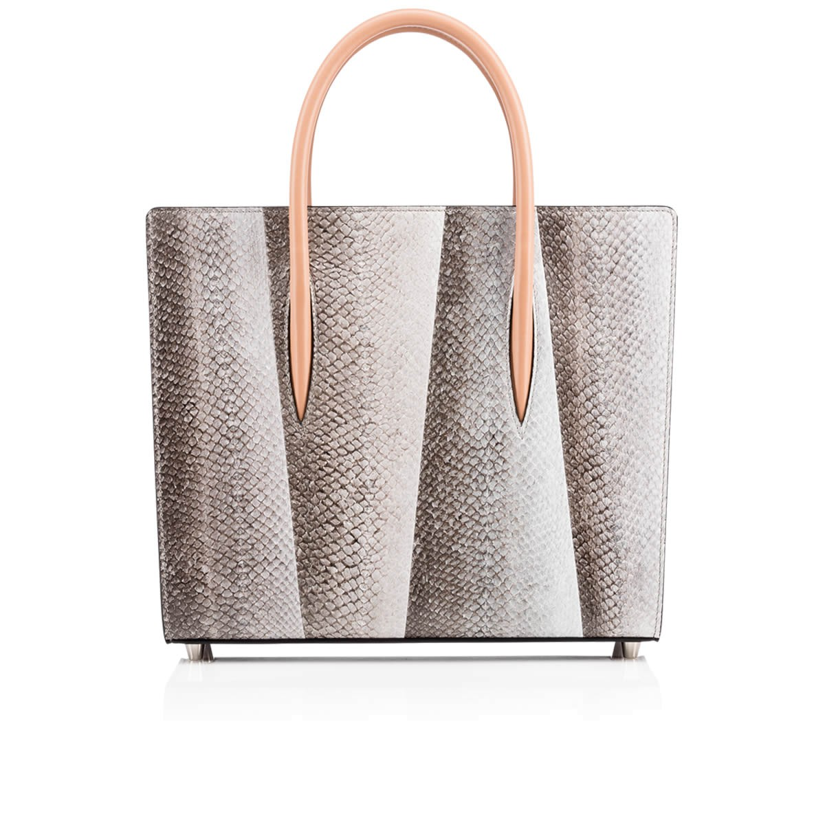 Paloma Medium Tote Bag Etain Salmon Skin - Handbags - Christian Louboutin