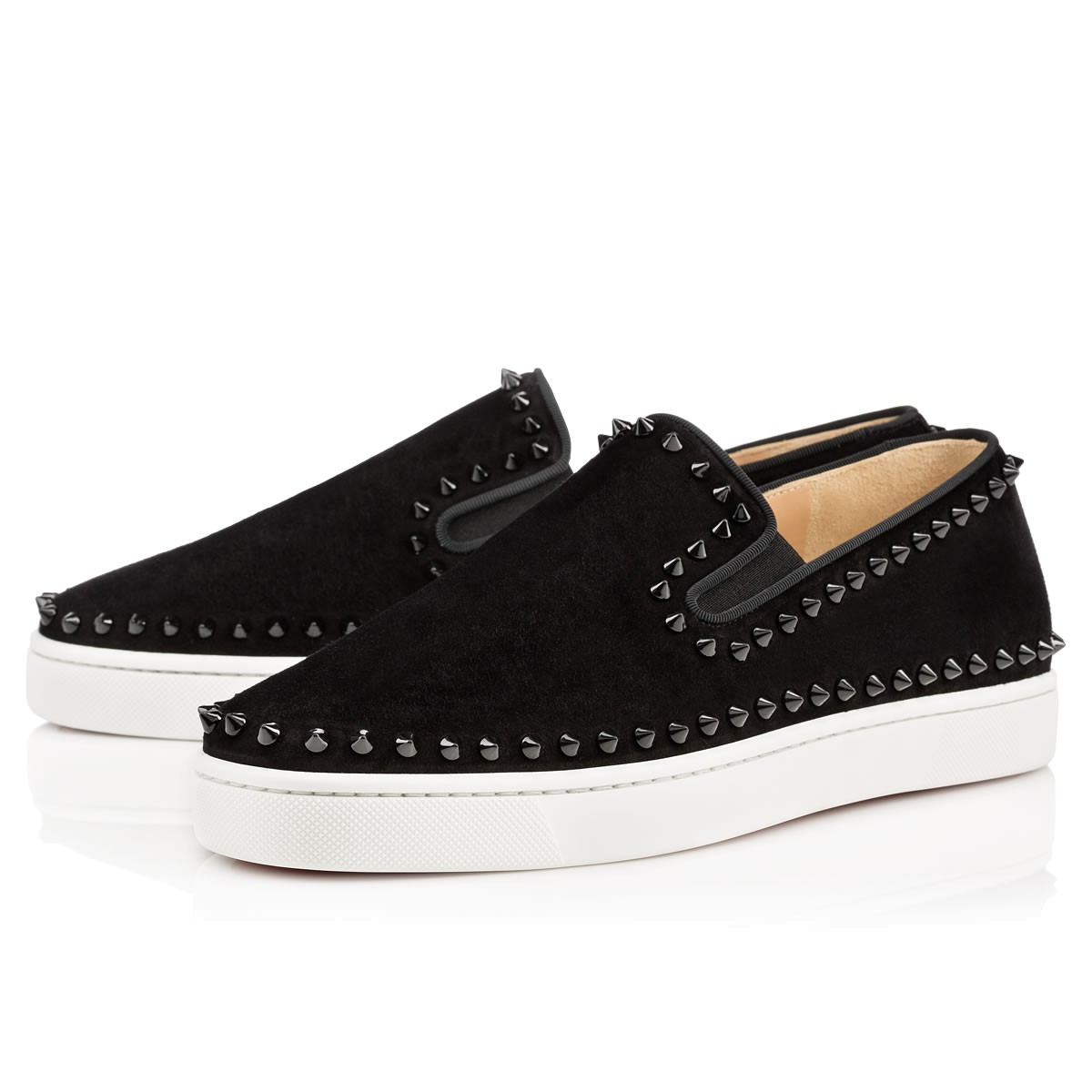 Pik Boat Men's Flat Black Suede - Men Shoes - Christian Louboutin