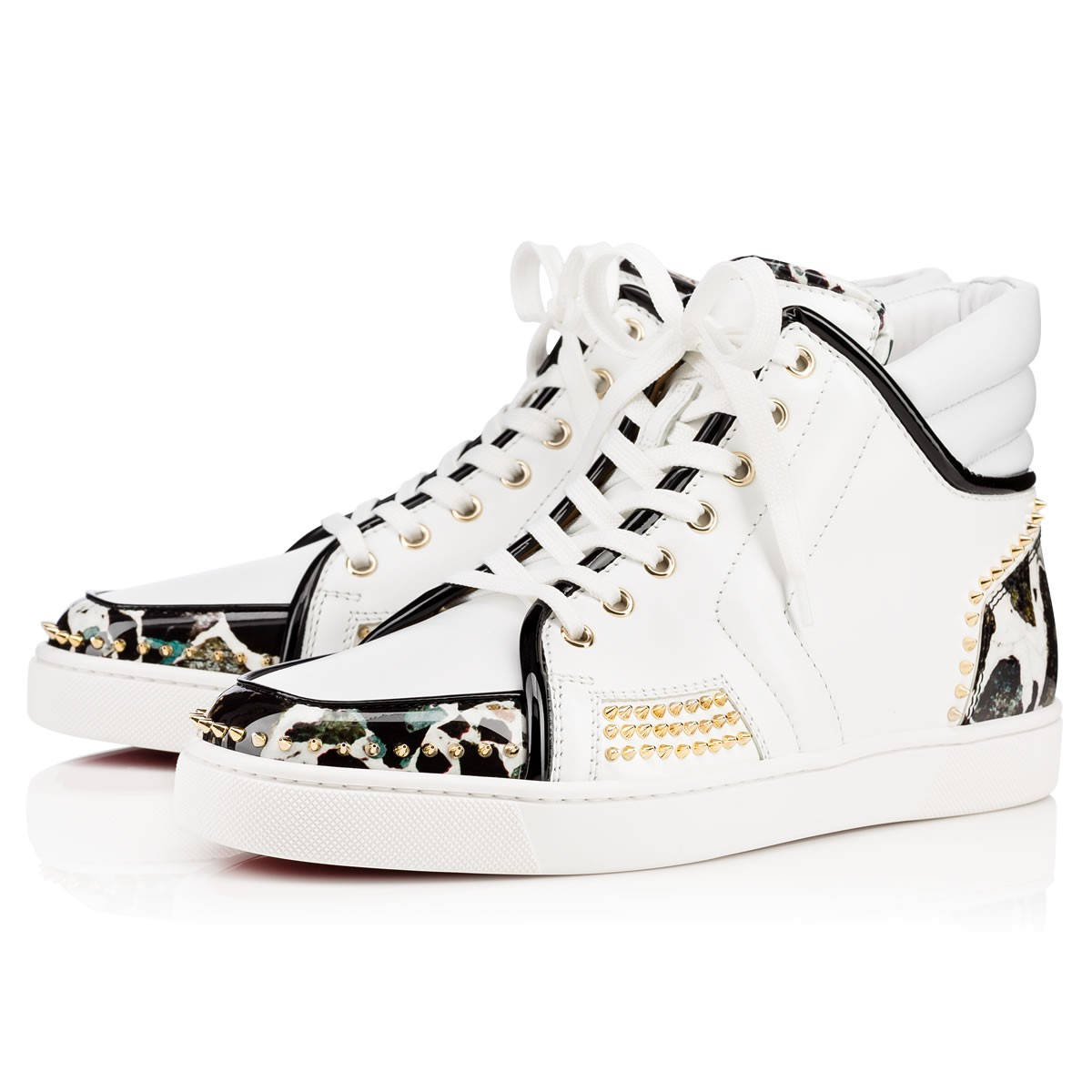 Sporty Dude Low Flat Black-White Leather - Men Shoes - Christian Louboutin